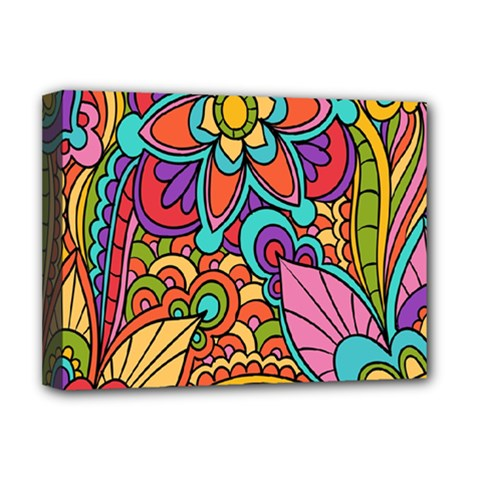 Festive Colorful Ornamental Background Deluxe Canvas 16  X 12   by TastefulDesigns