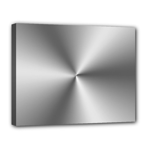 Shiny Metallic Silver Canvas 14  X 11  by yoursparklingshop