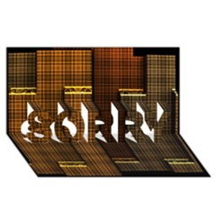 Metallic Geometric Abstract Urban Industrial Futuristic Modern Digital Art Sorry 3d Greeting Card (8x4)