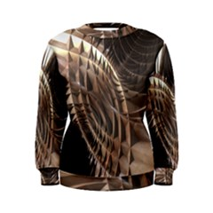 Metallic Copper Abstract Modern Art Women s Sweatshirt