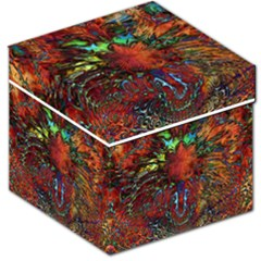 Boho Bohemian Hippie Floral Abstract Storage Stool 12   by CrypticFragmentsDesign