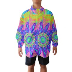 Neon Flower Sunburst Pinwheel Wind Breaker (kids)