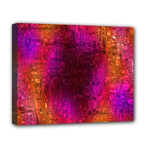 Purple Orange Pink Colorful Deluxe Canvas 20  X 16   by yoursparklingshop