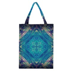 Boho Hippie Tie Dye Retro Seventies Blue Violet Classic Tote Bag by CrypticFragmentsDesign