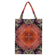 Boho Bohemian Hippie Floral Abstract Faded  Classic Tote Bag by CrypticFragmentsDesign