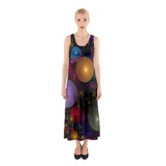 Billions Of Bubbles Sleeveless Maxi Dress by WolfepawFractals