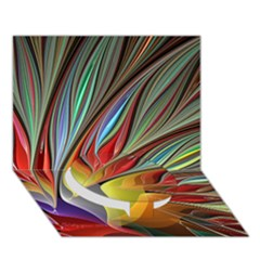 Fractal Bird Of Paradise Circle Bottom 3d Greeting Card (7x5) by WolfepawFractals