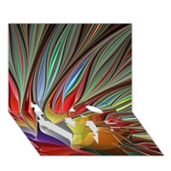 Fractal Bird Of Paradise Love Bottom 3d Greeting Card (7x5) by WolfepawFractals
