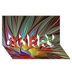 Fractal Bird Of Paradise Sorry 3d Greeting Card (8x4) by WolfepawFractals