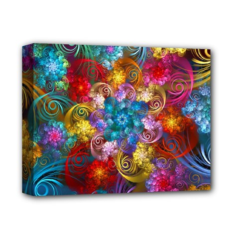 Spirals And Curlicues Deluxe Canvas 14  X 11  by WolfepawFractals