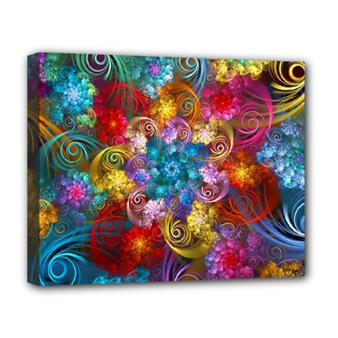 Spirals And Curlicues Deluxe Canvas 20  X 16   by WolfepawFractals