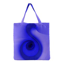 Blue Spiral Note Grocery Tote Bag by CrypticFragmentsDesign