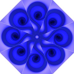 Blue Spiral Note Straight Umbrellas by CrypticFragmentsDesign