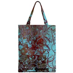 Urban Graffiti Grunge Look Zipper Classic Tote Bag by CrypticFragmentsDesign
