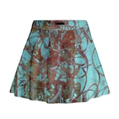 Urban Graffiti Grunge Look Mini Flare Skirt by CrypticFragmentsDesign