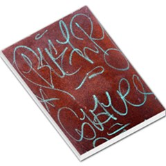 Urban Graffiti Rust Grunge Texture Background Large Memo Pads by CrypticFragmentsDesign