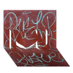 Urban Graffiti Rust Grunge Texture Background I Love You 3d Greeting Card (7x5)  by CrypticFragmentsDesign