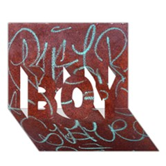 Urban Graffiti Rust Grunge Texture Background Boy 3d Greeting Card (7x5) by CrypticFragmentsDesign
