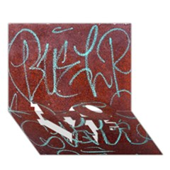 Urban Graffiti Rust Grunge Texture Background Love Bottom 3d Greeting Card (7x5)  by CrypticFragmentsDesign