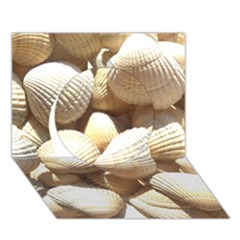 Tropical Exotic Sea Shells Circle 3d Greeting Card (7x5)  by yoursparklingshop