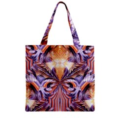 Fire Goddess Abstract Modern Digital Art  Zipper Grocery Tote Bag by CrypticFragmentsDesign