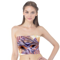 Fire Goddess Abstract Modern Digital Art  Tube Top by CrypticFragmentsDesign