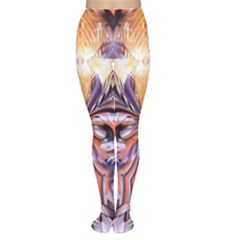 Fire Goddess Abstract Modern Digital Art  Women s Tights by CrypticFragmentsDesign