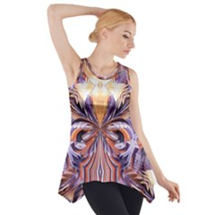 Fire Goddess Abstract Modern Digital Art  Side Drop Tank Tunic by CrypticFragmentsDesign