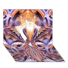 Fire Goddess Abstract Modern Digital Art  Ribbon 3d Greeting Card (7x5)  by CrypticFragmentsDesign