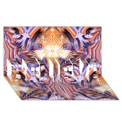 Fire Goddess Abstract Modern Digital Art  Believe 3d Greeting Card (8x4)  by CrypticFragmentsDesign
