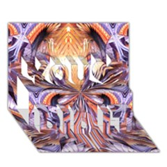 Fire Goddess Abstract Modern Digital Art  You Did It 3d Greeting Card (7x5) by CrypticFragmentsDesign