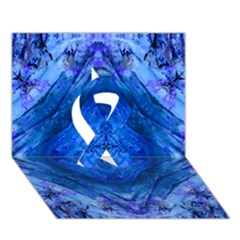 Boho Bohemian Hippie Tie Dye Cobalt Ribbon 3d Greeting Card (7x5)  by CrypticFragmentsDesign