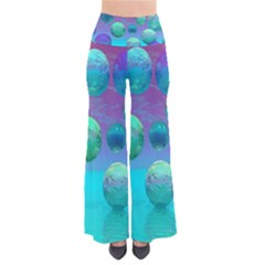 Ocean Dreams, Abstract Aqua Violet Ocean Fantasy Pants by DianeClancy