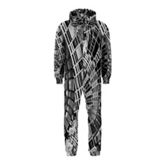 Semi Circles Abstract Geometric Modern Art Hooded Jumpsuit (kids) by CrypticFragmentsDesign
