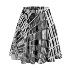 Semi Circles Abstract Geometric Modern Art High Waist Skirt by CrypticFragmentsDesign