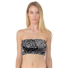 Mariager   Bold Flower Design   Black And White Bandeau Top by Zandiepants