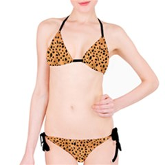 Officially Sexy Black Strap Cheetah Print Bikini by OfficiallySexy