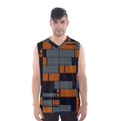 Rectangles In Retro Colors                              Men s Basketball Tank Top by LalyLauraFLM
