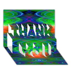 Neon Night Dance Party Thank You 3d Greeting Card (7x5)  by CrypticFragmentsDesign
