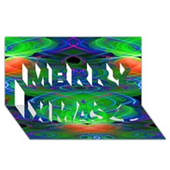 Neon Night Dance Party Merry Xmas 3d Greeting Card (8x4)  by CrypticFragmentsDesign