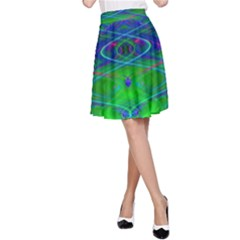 Neon Night Dance Party A Line Skirt
