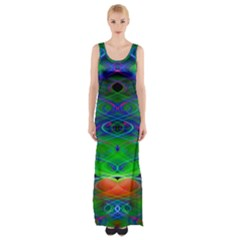 Neon Night Dance Party Maxi Thigh Split Dress