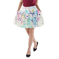 Labyrinth Barn Owl A-line Pocket Skirt