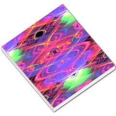 Neon Night Dance Party Pink Purple Small Memo Pads by CrypticFragmentsDesign