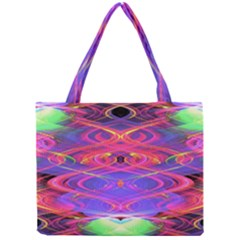 Neon Night Dance Party Pink Purple Mini Tote Bag by CrypticFragmentsDesign