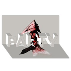 Pyramid Head Drippy Party 3d Greeting Card (8x4)  by lvbart