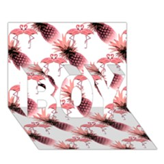 Flamingo Pineapple Tropical Pink Pattern Boy 3d Greeting Card (7x5) by CrypticFragmentsColors