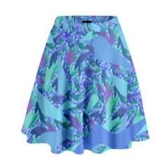 Blue Confetti Storm High Waist Skirt