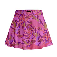 Bright Pink Confetti Storm Mini Flare Skirt by KirstenStar