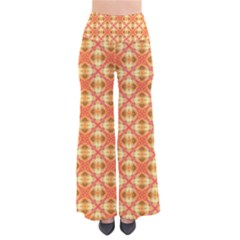 Peach Pineapple Abstract Circles Arches Pants by DianeClancy